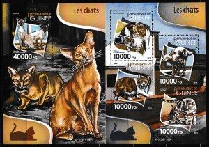 Guinea - CATS - Set + S.S. - MNH
