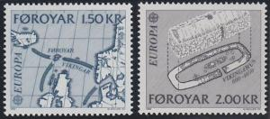 Faroe Islands  81-82 MNH (1982)