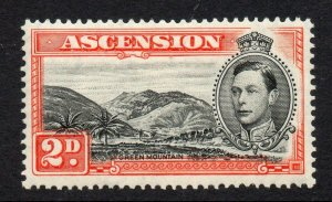 Ascension 1938 KGVI 2d black & red-orange perf 13½ SG 41 mint
