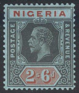 Nigeria 1932 2s6d Watermark Script DIE I SG 27a Scott 30a LMM/MLH Cat £45($58)
