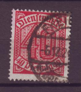 J20652 Jlstamps 1920-1 germany used #o7 numeral official