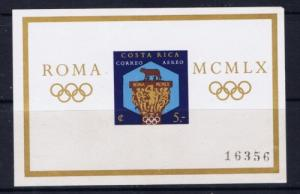 Costa Rica C313 NH 1960 Rome Olympics S/S