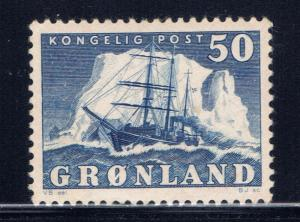 Greenland 35 MH 1950 issue