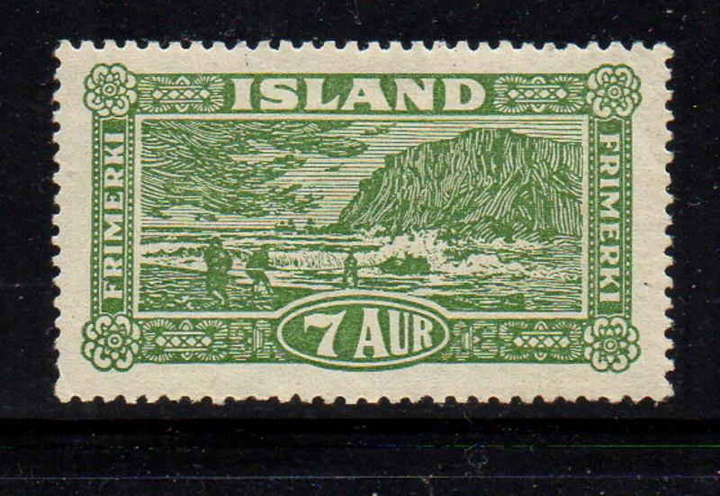 Iceland  1925 7 aur landing the mail stamp mint