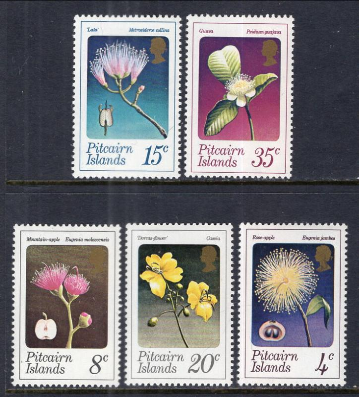 Pitcairn Islands 130-134 Flowers MNH VF