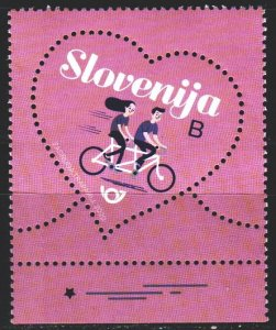 Slovenia. 2020. 1402. Valentine's day, heart, bike. MNH.