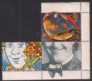 GB 1990 QE2 3 x 20p Greetings Smiles used SG 1487-1491-1492 ( T945 )