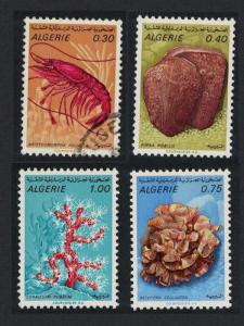 Algeria Prawn Coral Marine Life 4v Mixed SG#553-556