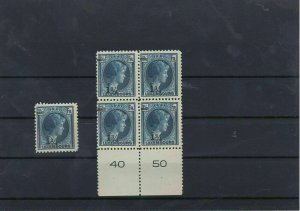 Luxembourg MNH 1926 Overprints Stamps Block Ref: R6696