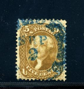 Scott #67 Jefferson Used Stamp w/PSE Cert (Stock 67-1p)