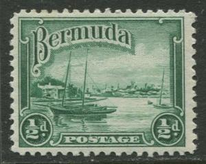 Bermuda - Scott 105 - Hamilton Harbor - 1936 - MVLH - Single - 1/2d Stamp