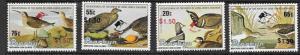 PENRHYN ISLAND SG452/5 1990 BIRDPEX 90 MNH