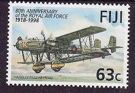 Fiji-Sc#815-Unused NH 63c Handley Page Hayford-Planes-Military Aircraft-RAF-1998