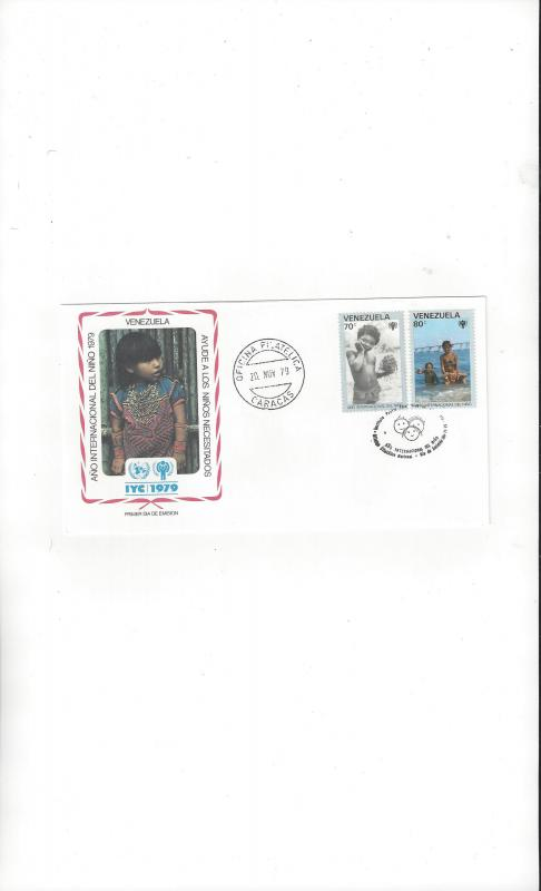 Venezuela FDC International Year of the Child 1979 Official Cachet
