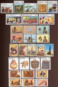 Botswana Sc 169-73, 179-81, 215-20, 225-29, 230-33, 247-52. MNH. 2017 SCV $15.85