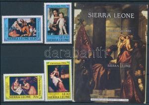 Sierra Leone stamp Christmas set MNH 1986 Mi 946-949 + Block Mi 56 WS107220