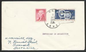 USA ANTARCTIC 1960 cover USS Arneb cancel..................................53533