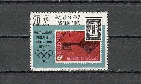 Ras al Khaima, Mi cat. 306 A. Europa, Stamp on Stamp Value. ^