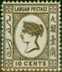 Labuan 1894 10c Brown SG54 Fine Mtd Mint