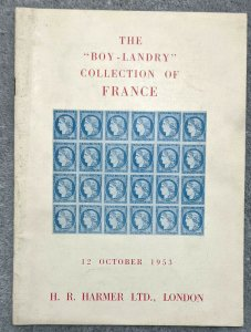 Auction Catalogue 1953 BOY-LANDRY Classic FRANCE with Prices Realised