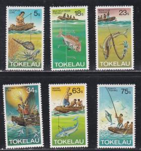 Tokelau # 85-89, Fishing Methods, Hinged, 1/3 Cat.