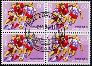 Switzerland. 1994 80c(Block of 4). S.G.1284 Fine Used