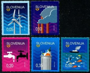 HERRICKSTAMP NEW ISSUES SLOVENIA Sc.# 1296-1300 Environmental Protection S/A