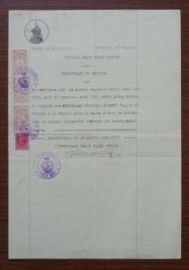 Italy Document - Revenue Stamp! J3