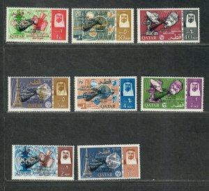 Qatar Sc#91-98 M/NH/VF, Cv. $39.50
