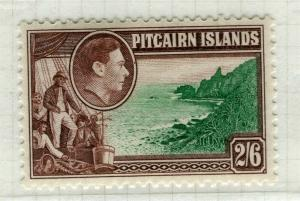 PITCAIRN ISLANDS; 1938 early GVI pictorial issue fine Mint hinged 2s. 6d. value