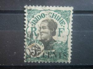 INDO-CHINA, 1919, used 2c on 5c, Girl  Scott 68