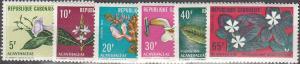 Gabon #284-9 MNH F-VF CV $7.75 (SU2947)