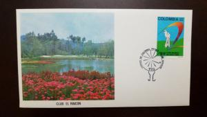 RL) 1980 COLOMBIA, 28 WORLD CUP OF GOLF, SPORT, EL RINCON CLUB, NATURE, FLOWERS