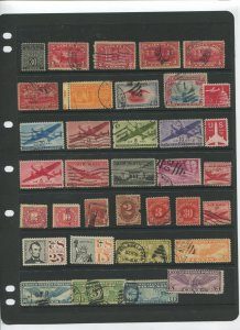 STAMP STATION PERTH USA Early Selection of 35 Stamps Unchecked Mint /Used-Lot 32