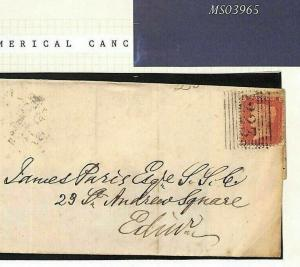 GB SCOTS ISLANDS Cover Superb Lerwick 223 Numeral 1861 SHETLAND Penny Red MS3965