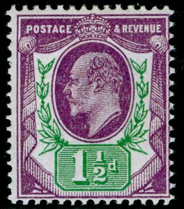 SG289 SPEC M10(7), 1½d slate-purple & green (F), NH MINT. Cat £60.