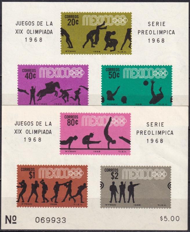 Mexico #992a, 995a  MNH CV $14.50 (A19329)