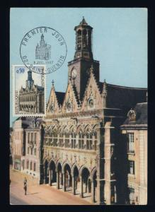 FRANCE - 1967 - Yv.1499 HÔTEL-DE-VILLE DE ST-QUENTIN CARTE MAXIMUM 1er JOUR