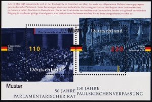 Germany. 1998 Miniature Sheet(Specimen) S.G.MS2849 Unmounted Mint
