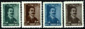 Albania #526-29  MNH - Writer Luigi Gurakuqi (1958)