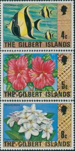 Gilbert Islands 1976 SG25-29 Fish Flowers MNH