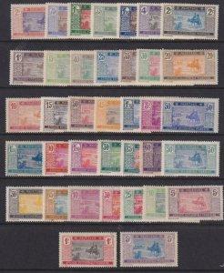 Mauritania 1886-1938 SC 18-54 MLH Set