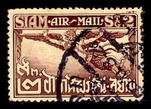 THAILAND Scott C1 Garuda airmail stamp Used perf 14.5 on yellowish