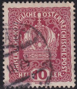 Austria 148 USED 1916 Austrian Crown 10h