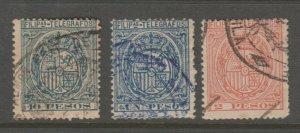 Spain Philippines Telegraph Revenue fiscal Cinderella stamp 8-12-5