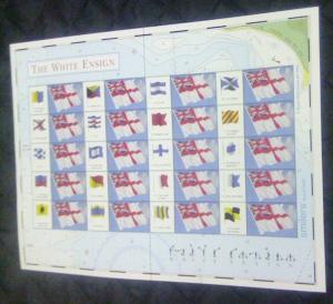 Great Britain Sc 1999g 2005 White Ensign Smilers Sheet NH