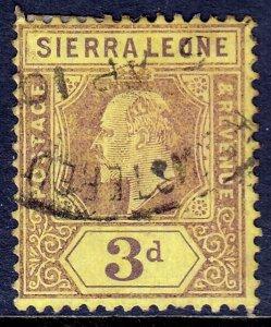 Sierra Leone - Scott #95 - Used - Toning spot - SCV $3.25