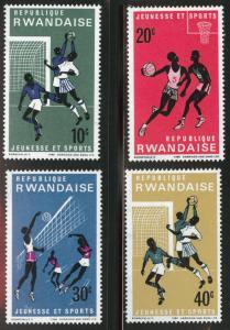 RWANDA Scott 164-168 MH* Ball Sports stamps