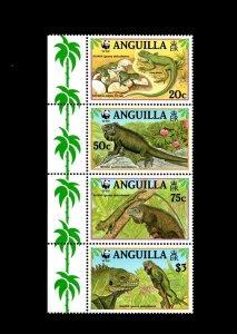 ANGUILLA - 1997 - WWF - IGUANA - LIZARD - REPTILE - EGGS + MINT - MNH SET!