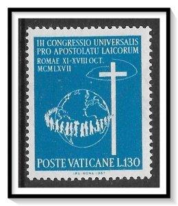 Vatican City #454 Congress Of Laymen MNH